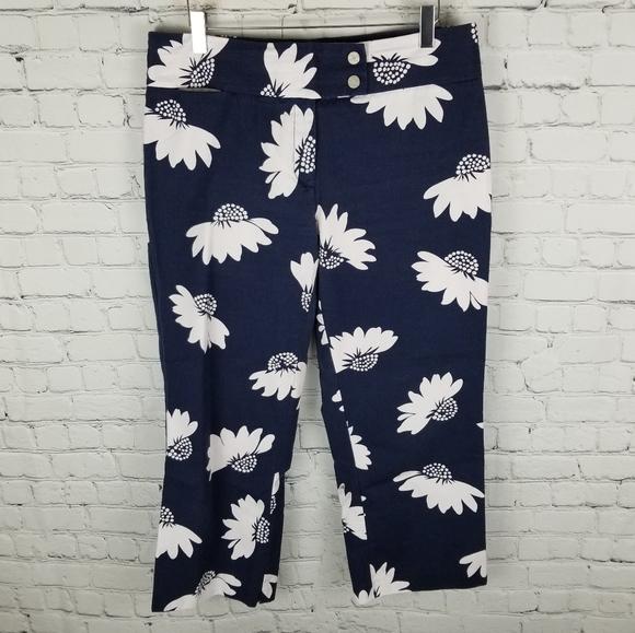 TOMMY HILFIGER | floral stretch capris pants